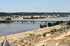 Bordeaux : le chantier du parc des Sports Saint Michel en  2008