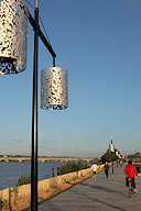 Bordeaux : lampadaire du parc des Sports Saint Michel