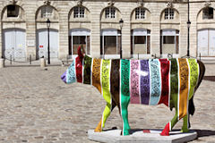 Vache de la Cow Parade de Bordeaux place de la bourse | Photo Bernard Tocheport