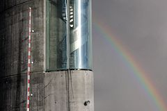 Arc en ciel et pilône du pont Jacques Chaban Delmas -  photo 33-bordeaux.com
