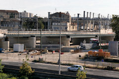 Bordeaux : Chantier construction pont Garonne